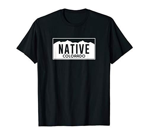(Colorado Native License Plate Design (white)- Colorado T-Shirt )