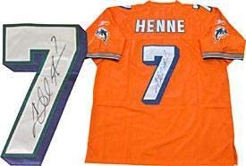 Chad Henne Autographed / Signed Authentic Miami Dolphins Orange ...