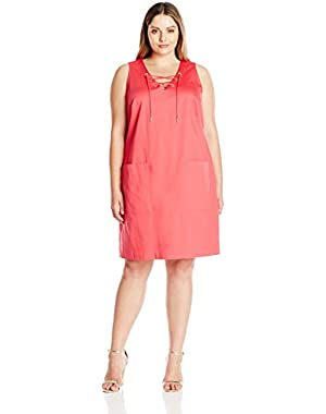 Calvin Klein Women's Plus-Size Sleeveless Shift Dress