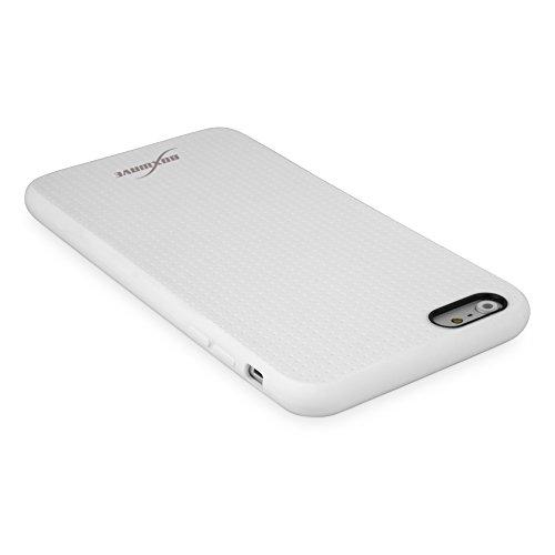 BoxWave Schutzhülle für iPhone 6Plus Boxwave Slimgrip Schutzhülle für Apple iPhone 6Plus TPU case Schutzhülle für Apple iPhone 6Plus, stabil, rutschfest, Farbe: Weiß