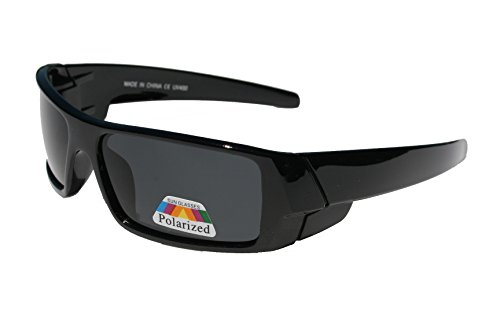 Men POLARIZED Limited Edition Super Dark Shades Motorcycle Sunglasses (Dark Locs Sunglasses compare prices)