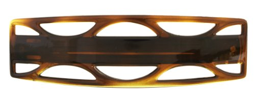 Caravan Large Automatic Barrette in a Jumping Jack Design Design in Tortoise Shell - The Color Tortoise
