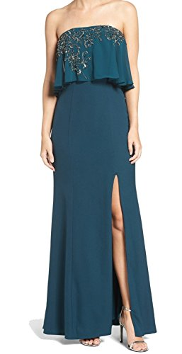 JS Collection Women's Prom Embellished Gown Dress Blue 8