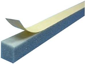 角バッカー 23mm厚×15mm巾×1000mm 糊付き(100本) 粘着面15mm側