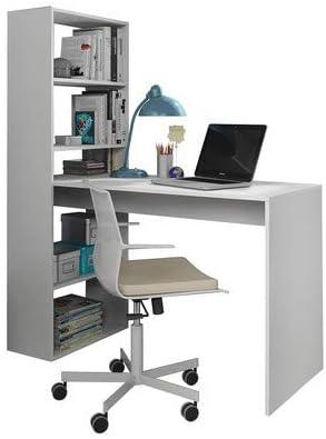 FORES Habitatdesign Gio 008314 - Escritorio y Estantería, blanco ...