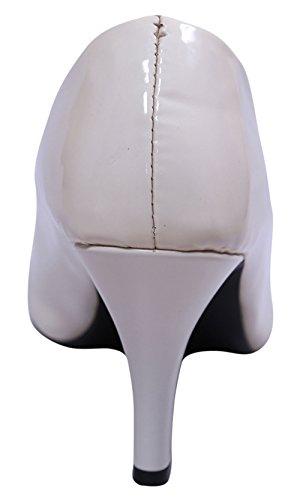 el Sparrow tacón de tamaño Blanco tacón Sandalias alto elija alto con estilo de mujeres de las John 614Xqdw6