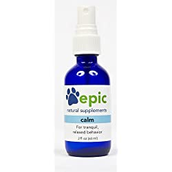 Calm Natural Calming Sprays Made for Dogs and Cats Odorless That Promotes Calm & Relaxed Behavior. Use Before Vet Visits Grooming Fireworks & Thunderstorms. Made in USA (Spray, 2 Ounce)