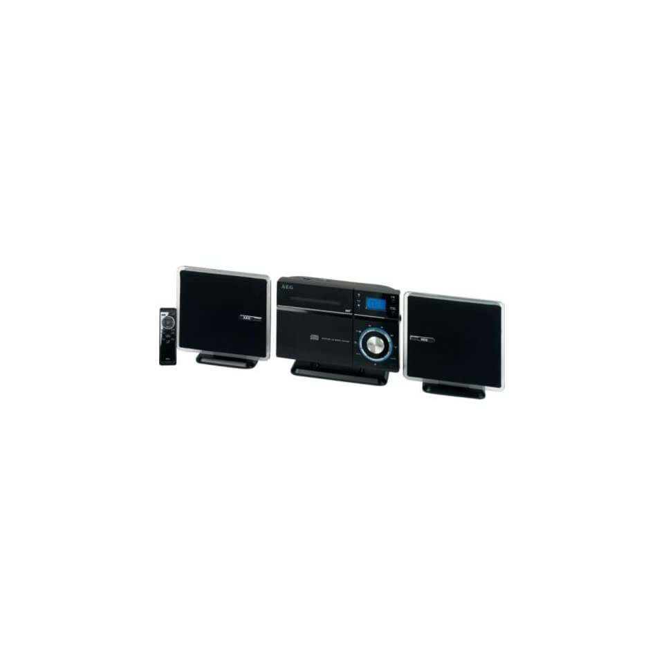 AEG MC 4433 Vertikal Stereoanlage (CD//WMA Player, 60 Watt, USB 2.0) schwarz Heimkino, TV & Video