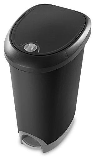 Sterilite 10739002 Locking Wastebasket Titanium