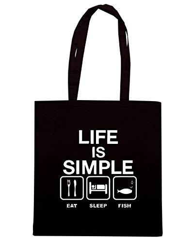 Speed Shirt Borsa Shopper Nera WES0939 LIFE IS SIMPLE