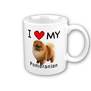 I Love My Pomeranian Coffee Mug by MyHeritageWear