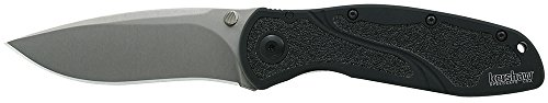 "(Kershaw Blur S30V Folding Pocket Knife (1670S30V); 3.4"" S30V Blade with Stonewashed Finish and Anodized Aluminum Handle with Trac-Tec Inserts, SpeedSafe Assisted Opening, Reversible Pocketclip; 4)"