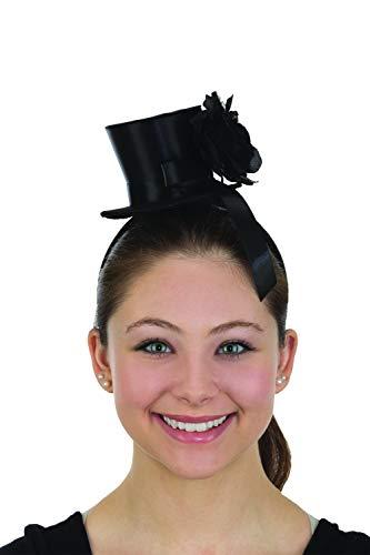 Black Mini Top Hat Rose Lolita Goth Widow Adult Women's Costume -