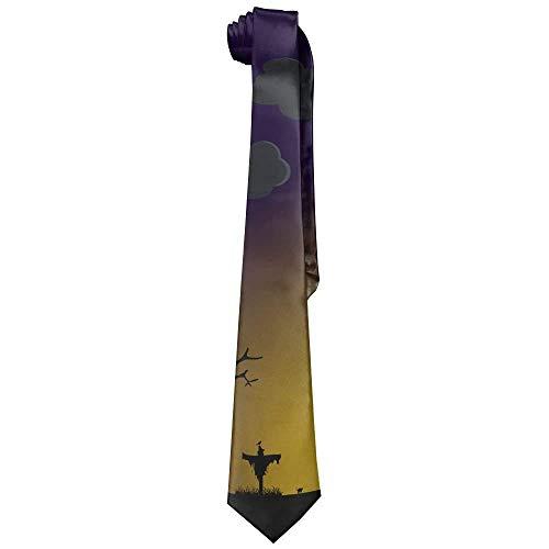 SOADV Men's Necktie Men's Classic Casual Halloween Moon Night Skinny Silk Tie Necktie Eco-friendly Fashion Mens Necktie Solid Color Slim Tie Novelty Neck Tie ()