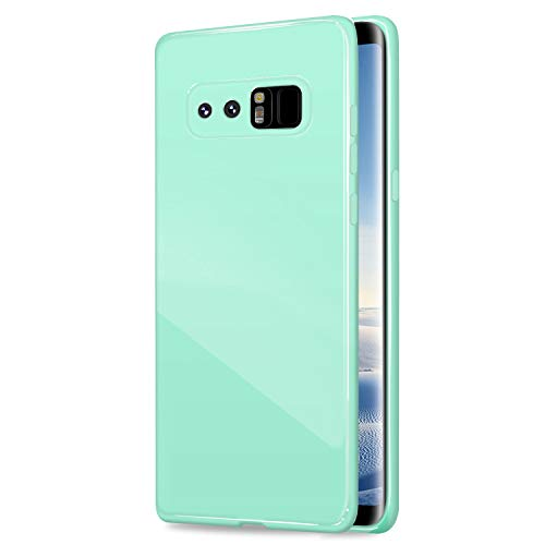 NLEY Candy Fusion Series - [Shock Absorption] Classic Jelly Silicone Case Soft Cover for Samsung Galaxy Note 8 (Mint Green) + Free Ultra Clear Screen Protector ()