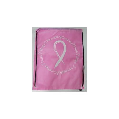 Breast Cancer Awareness Drawstring Bag
