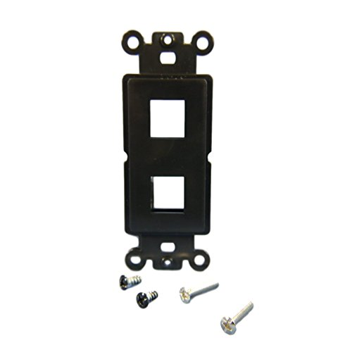 Cooper Wiring Devices 5522-5EBK Decora-Style Mounting Strap with 2 Ports - Black