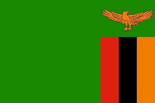 Zambia Flag 5ft x 3ft Large - 100% Polyester - Metal Eyelets