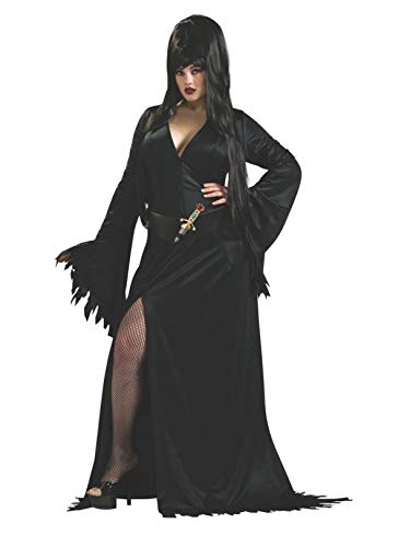 Secret Wishes Elvira Mistress of the Dark Full Figure Costume, Black -