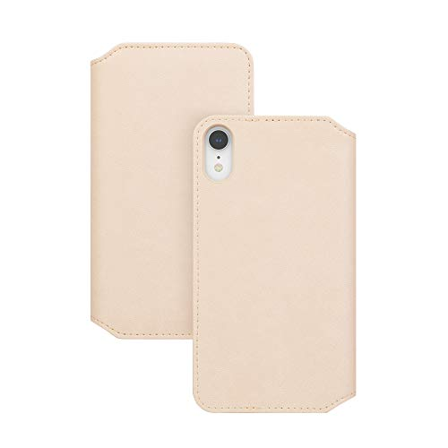 Moshi Overture Vegan Leather Premium Wallet Folio Case Compatible with iPhone XR - Beige