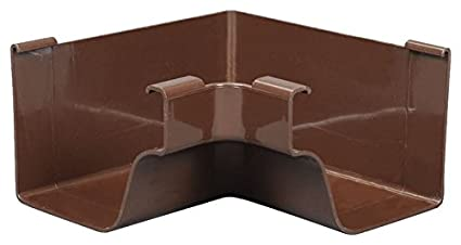 Amerimax Home Products Brown Vinyl K-Style Outside Mitre