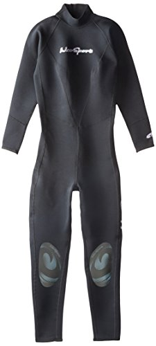 NeoSport Wetsuits Women's Premium Neoprene 1mm Full Suit, Black, 8 - Diving, Snorkeling & Wakeboarding