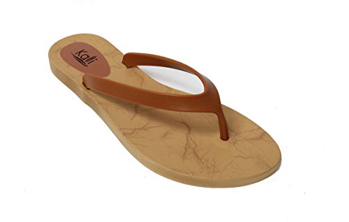 Kali Footwear Women's Cocoa Flat Thong Sandals (10 B(M) US, Plus Chestnut)