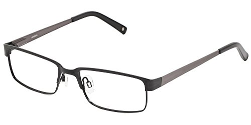 Umizato Prescription Glasses Frames Eyeglasses For Men - Metal Optical Rx (Thane in Black)