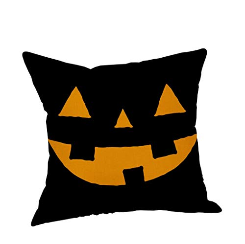 OCASHI Halloween Pillow Cases Linen Sofa Pumpkin Ghosts Cushion Cover Throw Pillow Case Covers Decorative Cushion Cover for Sofa Home Decor (C, 45X 45cm) -