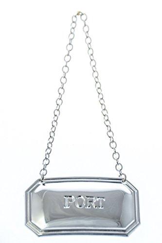 Port Cut Corner Decanter Label - Silver Plated