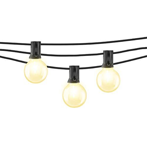 Mr Beams 1W G40 Globe Bulb LED Weatherproof Indoor/Outdoor String Lights, 50 feet, Black from Mr. Beams