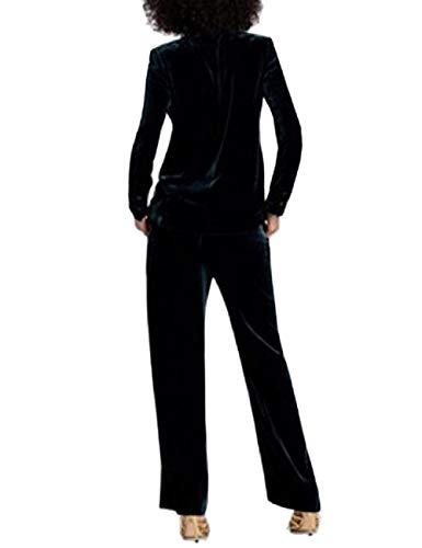 Fit Slim Otoño Primavera Manga Grün Traje Moda Negocios Solapa Chaqueta Blazer Abrigos Outerwear Terciopelo Oficina Cómodo Mujer Office Larga Sólido Color De Suave Cazadoras aZfaq6