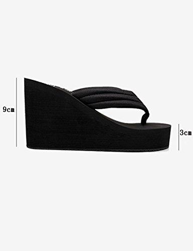 UK3 EU35 moda A de 9 Color antideslizantes la con Zapatillas alto Tamaño Zapatillas deslizadores B femeninas gruesas de verano CN34 palabra cm del los frescas qZZxX1S