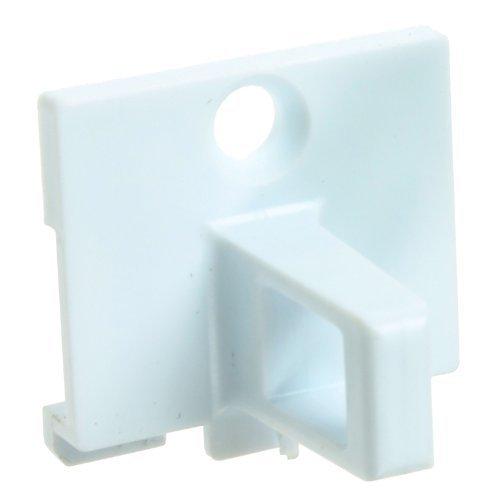 First4spares Porta Blocco Catch Plastica Gancio per Indesit Asciugatrici (Bianco) QUADT101
