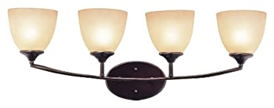Trans Globe Lighting 70374 ROB 4-Light Wall Sconce, Rubbed Oil Bronze
