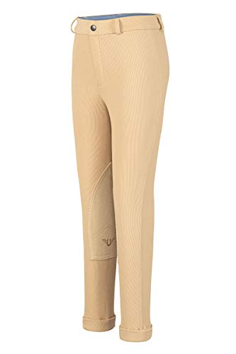 TuffRider Kid's Ribb Jods, Light Tan, 8 ()