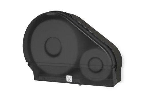 Palmer Fixture RD0024-02F Jumbo Roll Tissue Dispenser with Stub Roll, Black (Stub Roll Dispenser)