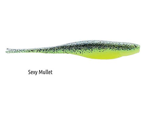 Z Man Scented Jerk ShadZ 4 inch Soft Plastic Jerkbait 5 Pack - Sexy Mullet ()