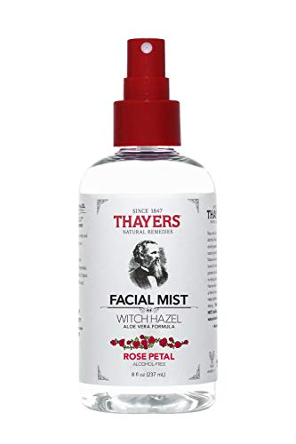 Thayers Natural Remedies Alcohol-Free Rose Petal Witch Hazel Facial Mist Toner, 8 Ounce