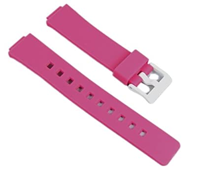 Casio watch strap watchband Resin Band Magenta LDF-52-4AEF LDF-52 LDF-50 from CASIO