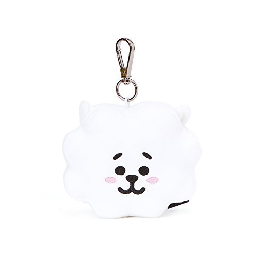 BT21 RJ Face Plush Doll 3.9 Inch White by BT21
