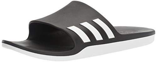 adidas AQUALETTE CF Athletic Sandal, White/Black, 8 M US