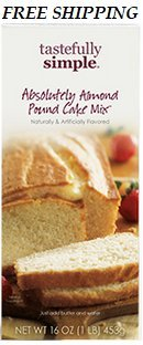 Tastefully Simple - Absolutely Almond Pound Cake Mix - Buy 3 or more & get 1 - Almond Cake Pound