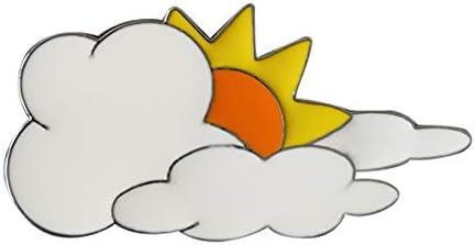 Wadachikis ブローチ 雲 漫画のブローチ 滴下油 カラフルな ラブリーブローチ スーツピン パーティー用 創造性 スカーフバックル コサージュ アクセサリー(灰色)