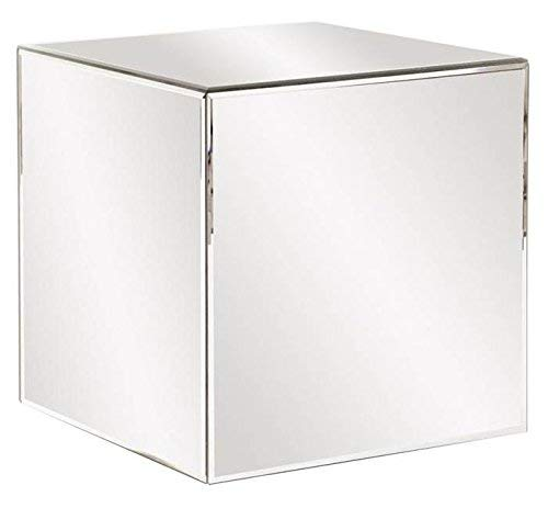 Cube Accent Table - Howard Elliott 48013 Mirrored Cube Table, 16