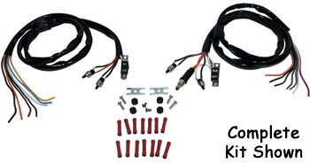 V-Factor 15125 Black Handlebar Wiring Harness Kit for Big Twin and Sportster