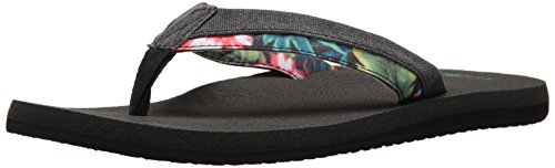 Sanuk Funk Beer Flop Black Light T Men's Flip Hawaiian Cozy rnrCfwq