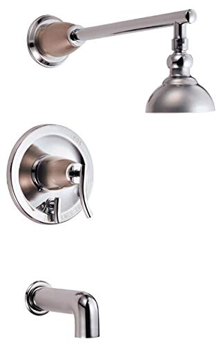 Danze D504054CSNT Sonora Single Handle Tub and Shower Trim Kit, 2.5 GPM, Valve Not Included, Chrome with Satin Nickel Accents