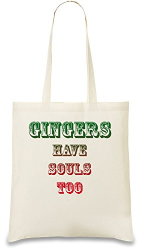 Gingers Have Souls Too Custom Printed Tote Bag| 100% Soft Cotton| Natural Color & Eco-Friendly| Unique, Re-Usable & Stylish Handbag For Every Day Use| Custom Shoulder Bags By Bang - Ginger With A Soul