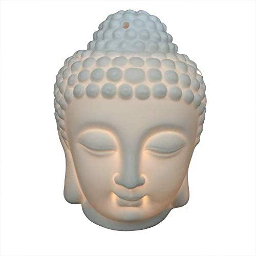 Better-way Buddha Head Ceramic Tea Light Holder Essential Oil Burner (Buddha)